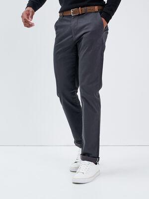 Pantalon chino ceinture gris fonce homme
