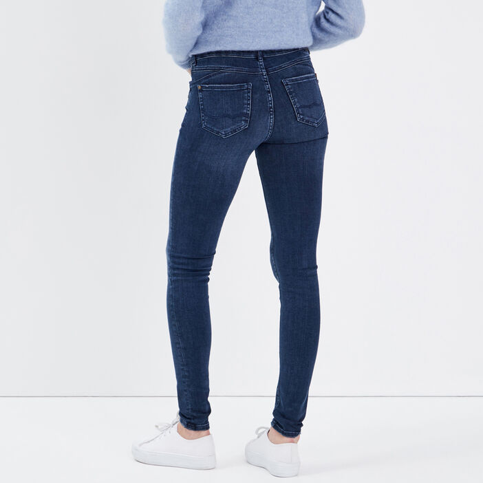 Jeans skinny à détail zippé denim dirty femme