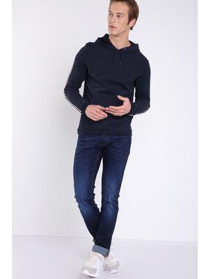 Jeans slim effet used Instinct denim brut homme