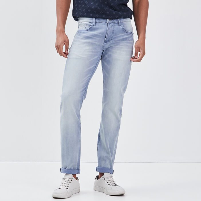 Jeans slim délavé denim bleach homme