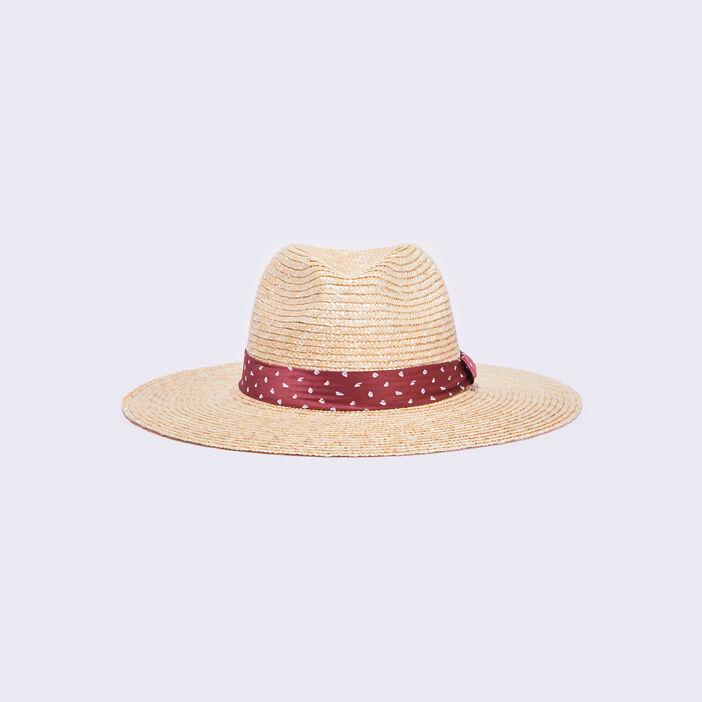 Chapeau tressé sable femme