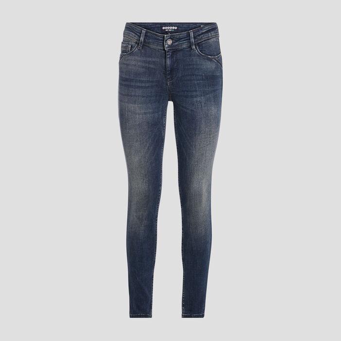 Jeans slim push up 7/8ème denim dirty femme