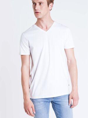 t shirt col v homme instinct blanc
