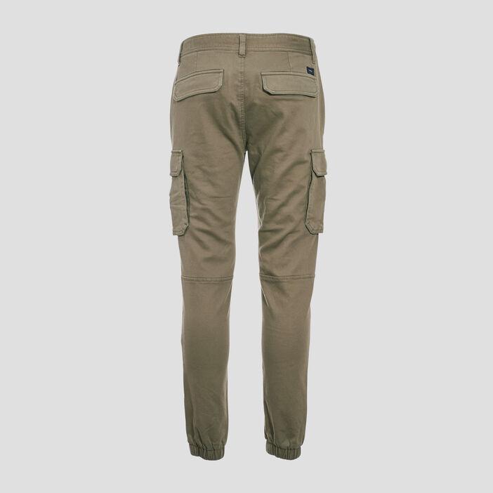 Pantalon cargo taille à cordon vert kaki homme