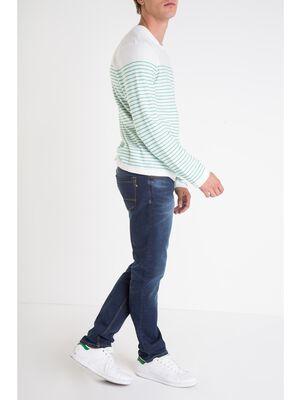 jeans slim homme effet used instinct denim brut