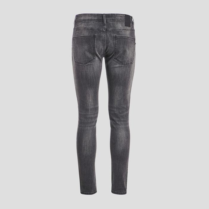 Jeans skinny destroy denim gris homme