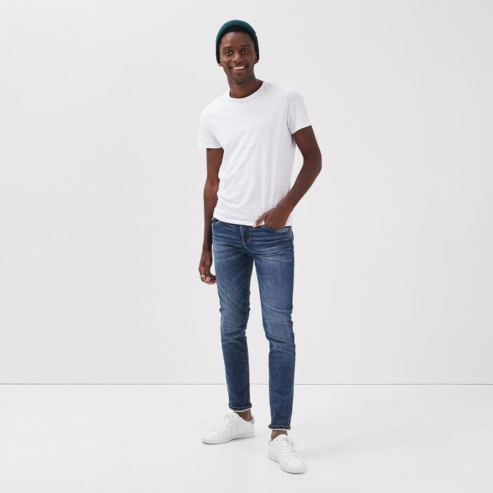 Jeans slim effet used denim stone homme