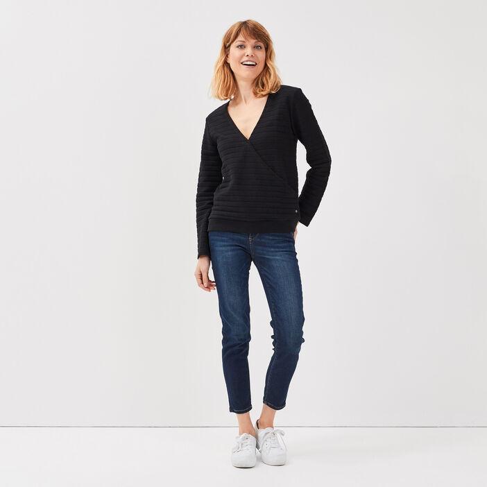 Jeans Vanessa - slim taille basse 7/8ème denim brut femme