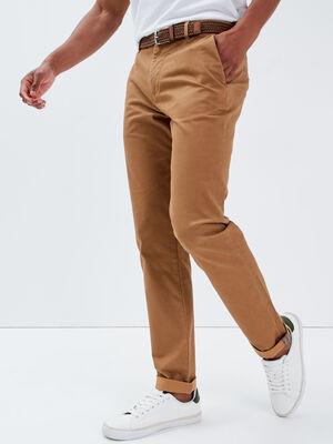 Pantalon chino ceinture beige homme