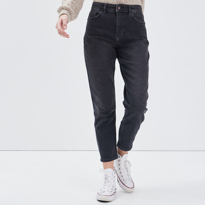 Jeans Gwen - mom denim gris femme