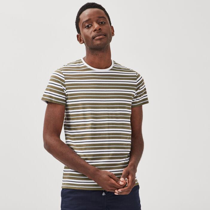 T-shirt manches courtes vert kaki homme