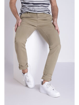 Pantalon Instinct chino slim vert kaki homme