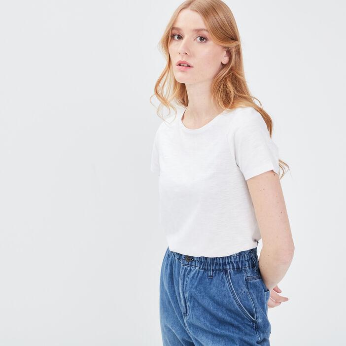 T-shirt éco-responsable blanc femme