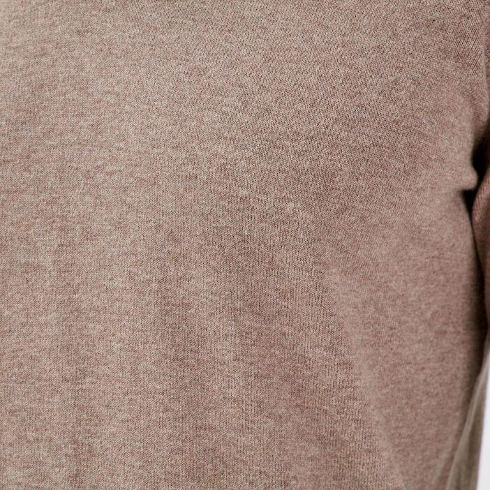 Pull éco-responsable beige homme