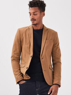 Veste blazer droite beige homme