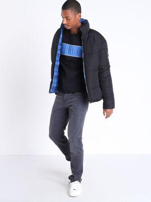 Doudoune droite reversible bleu homme