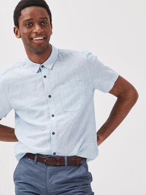 Chemise eco responsable bleu clair homme