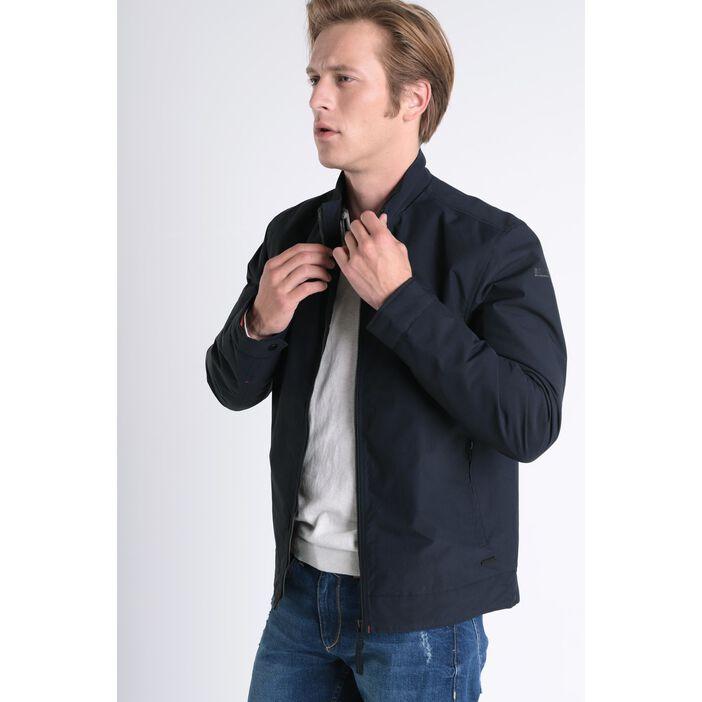 Blouson Instinct droit zippé bleu foncé homme