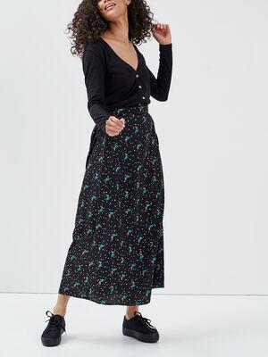 Jupe longue evasee multicolore femme