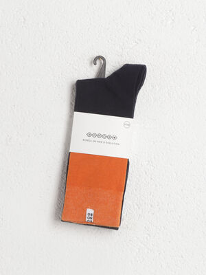 Chaussettes hautes orange homme