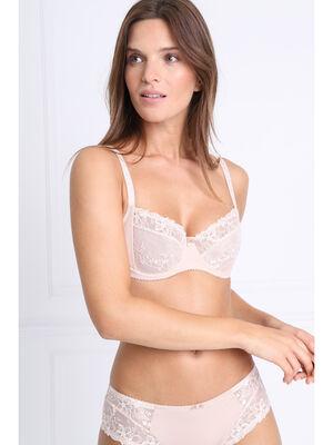Soutien gorge corbeille bijou beige femme