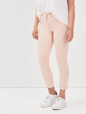 Pantalon 78 satin rose poudree femme