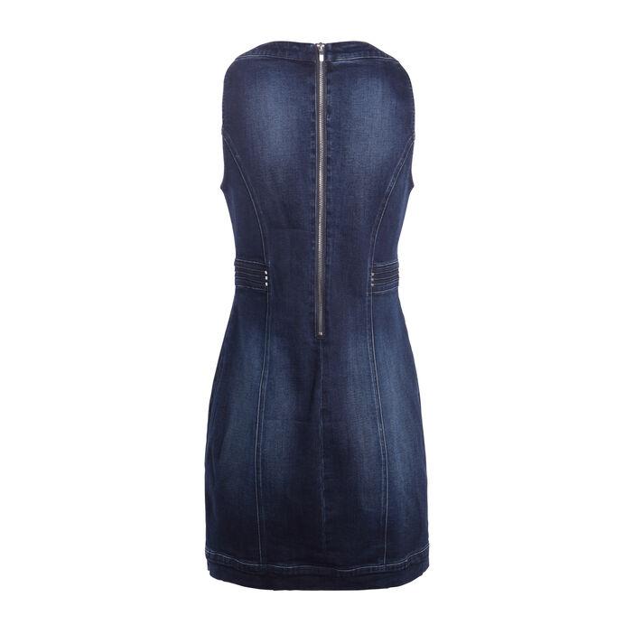 Robe ajustée en jean denim stone femme
