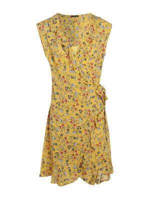 Robe imprime portefeuille jaune femme