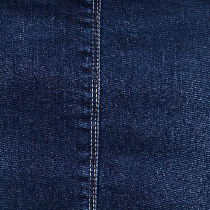 Jupe droite en jean denim brut femme