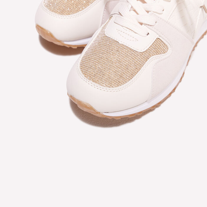Baskets beige femme