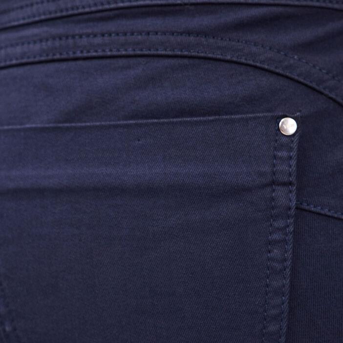 Pantalon magique sculptant uni bleu marine femme