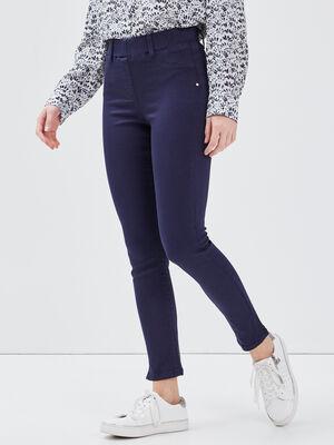 Tregging taille standard bleu marine femme