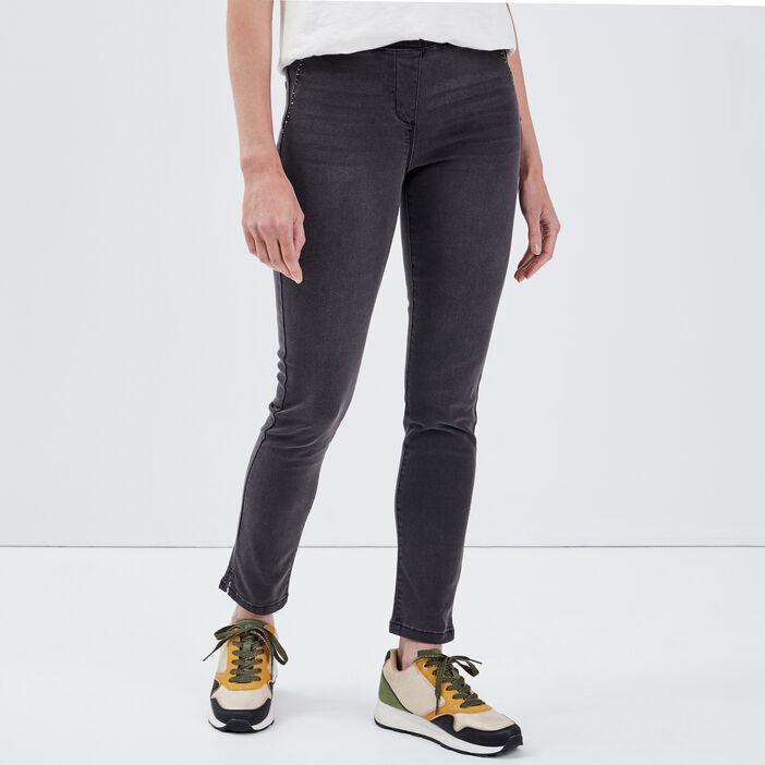 Pantalon tregging gris femme