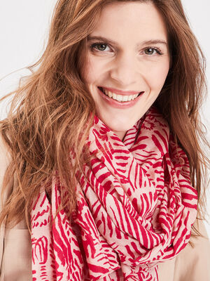 Foulard rose vif femme