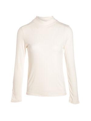 T shirt manches longues cotele creme femme