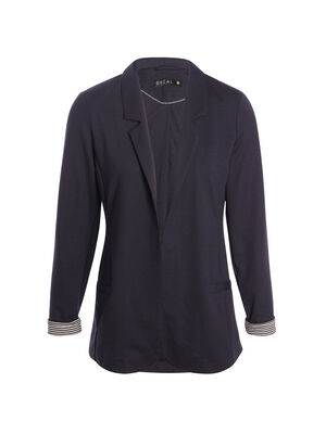 Veste de tailleur droite bleu fonce femme