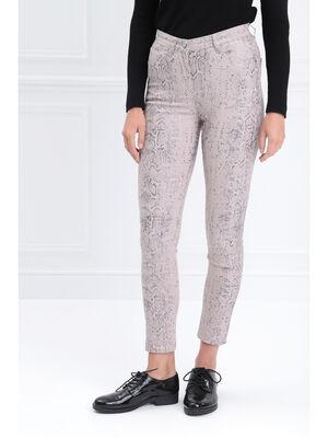 Pantalon 78 taille standard gris clair femme
