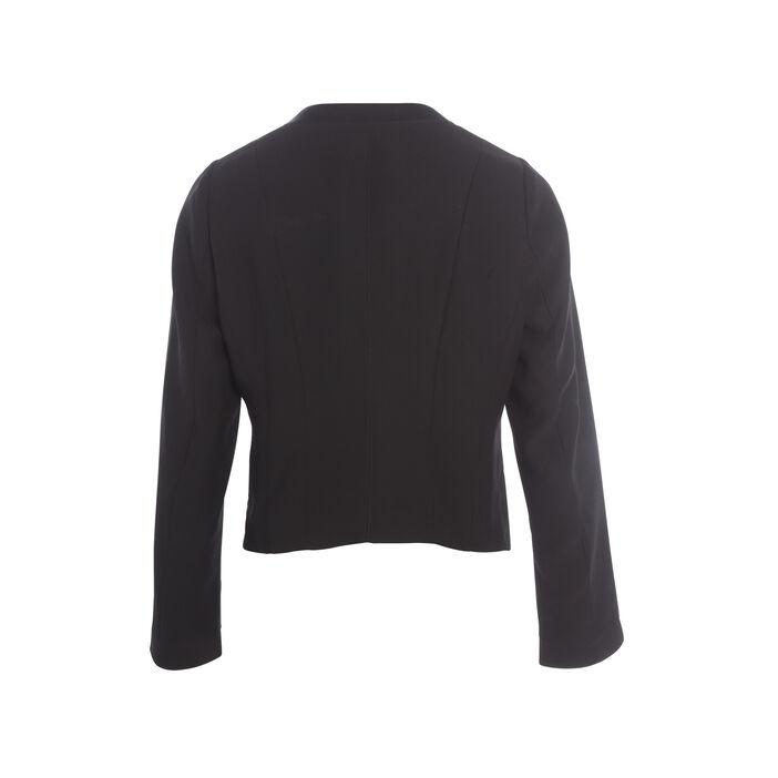 Veste de tailleur avec col à sequins noir femme