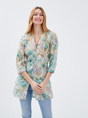 Chemise manches 34 multicolore femme