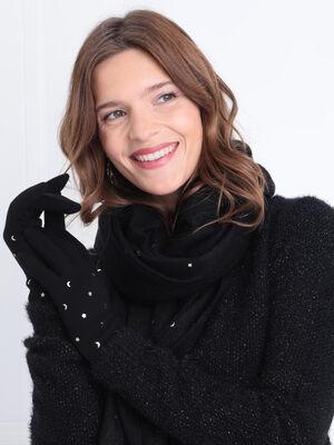 Lot echarpe et gants noir femme