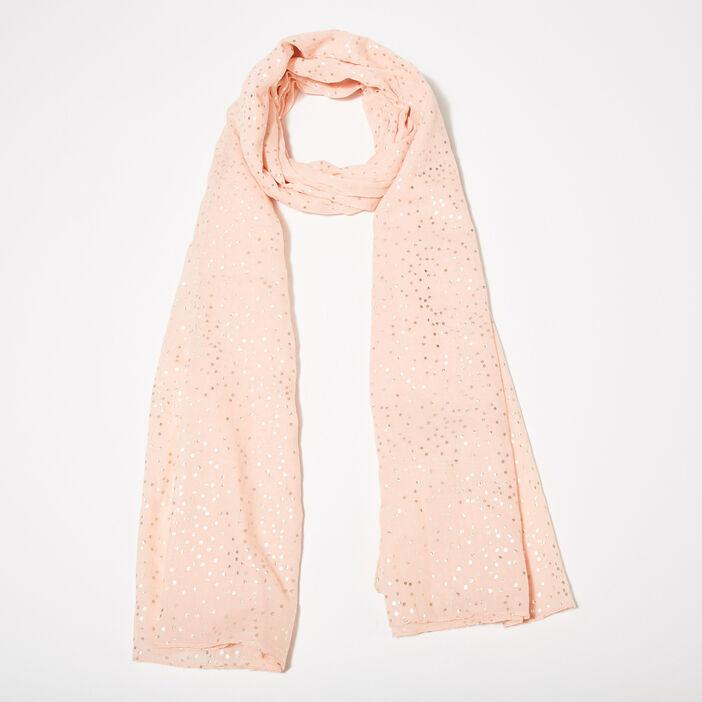 Foulard rose poudrée femme