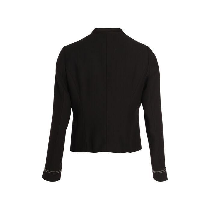 Veste cintrée col cranté noir femme