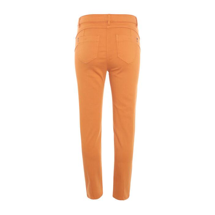 Pantalon 7/8ème taille standard jaune moutarde femme
