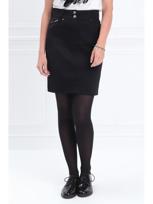 61b153478bdf8d Jupes noir femme | Vib's