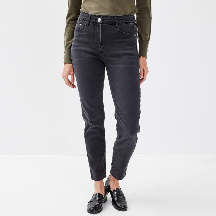 Jeans ajusté taille standard gris femme