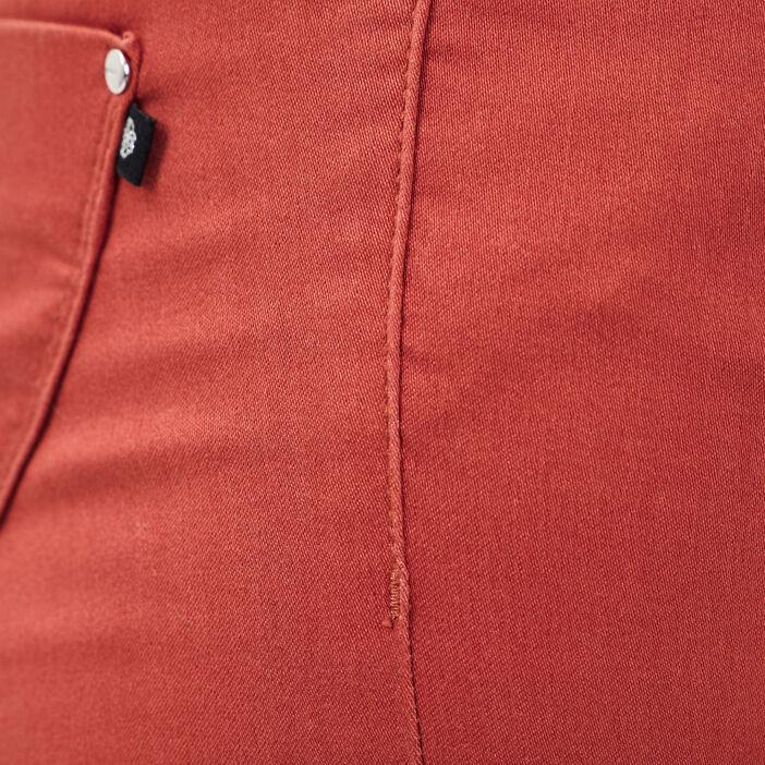Pantalon ajusté orange foncé femme