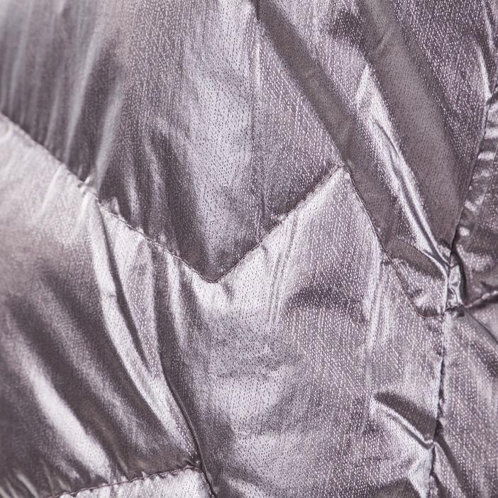 Doudoune droite à capuche violet foncé femme