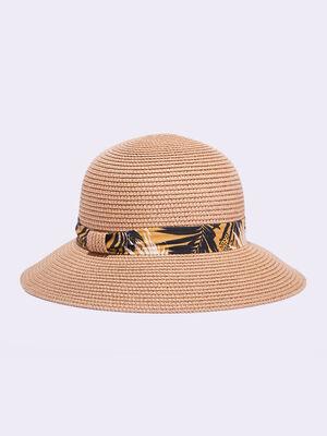 Chapeau de paille noir femme