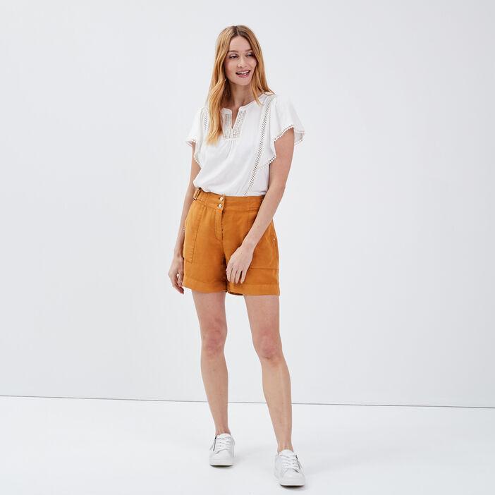 Short ample taille standard camel femme