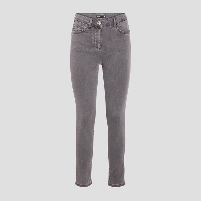 Pantalon léger toucher doux denim gris femme